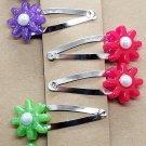 Handmade small resin flower hair clips set