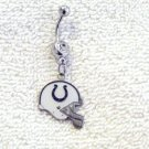 NFL Indianapolis Colts Football Charm Belly Navel Ring Body Jewelry Piercing
