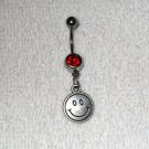 Smiley Face Happy Charm Design Belly Button Navel Ring Body Jewelry Piercing