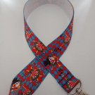 Blue and red clown print lanyard /ID holder / badge holder