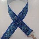 Blue dog breed lanyard / ID holder / badge holder