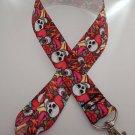 Bright skull / Mexican print lanyard / ID holder / badge holder