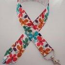 Butterfly print lanyard / ID holder / badge holder