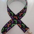 Halloween bat print lanyard / ID holder / badge holder