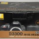 Nikon D D3300 24.2 MP Digital SLR Camera Black Kit w/ AF-S DX VR II 18-55mm Lens