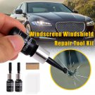 2pcs Automotive Glass Nano Repair Fluid Car Window Glass Crack Chip Repair Tool Kit `