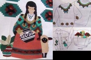 Cranston print works fabric appliques southwest motifs