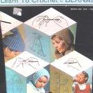 Crochet primer instruction booklet by Bernat with patterns