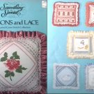 Cross stitch patterns Ribbons & Lace 1983 booklet 6 designs ribbon accents