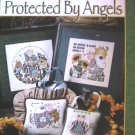 Cross stitch Protected by Angels pattern booklet 9 designs