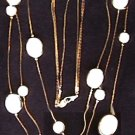 Avon necklace multi strand goldtone ivory beads jewelry