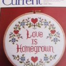 Current Cross Stitch embroidery kit Love Is Homegrown