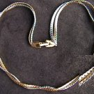 Avon necklace gold silver tone twisted 16 inch chains jewelry