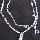 "Modern pronged rhinestone necklace 18"" jewelry"