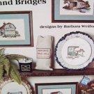Cross stitch leaflet Buggies Barns Bridges 7 design patterns