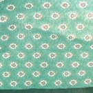 Green flower cotton blend quilting fabric 1 yds 44 inches wide