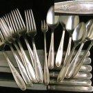 Oneida Belford silverplate flatware 19 pcs 6 knives spoons forks 1930 Carlton silver plate