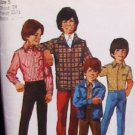Simplicity 9595 boys size 5 sewing pattern 1971 vintage uncut jacket shirt pants