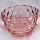 Fostoria American or Indiana Whitehall glass light pink sugar bowl