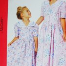McCall 6354 sewing pattern girl dress sizes 3, 4, 5, 6 easy uncut