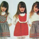 McCall 7213 girl sewing pattern size 6 jumper skirt 1980