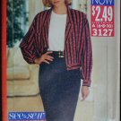 Butterick 3127 Easy Sew jacket skirt blouse sizes 6 8 10 uncut sewing pattern