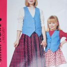 McCall 6644 easy stitch sewing pattern girl skirt vest sz 4
