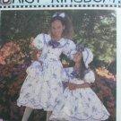 Simplicity 9446  sewing pattern Daisy Kingdom size 3 4 5 girl dress, hat, purse & bow