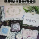 Cross stitch alphabet letters with beads craft patterns booklet by Back Street