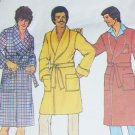 Simplicity 7080 vintage sewing pattern man's robe size M & monogram transfers