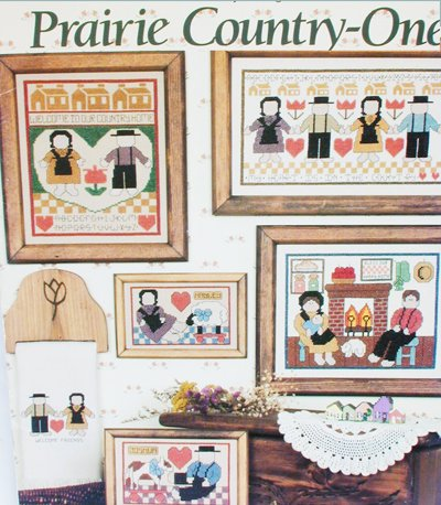 Cross stitch booklet Prairie Country One patterns 5 designs