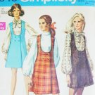 Simplicity 8345 vintage sewing pattern misses jumper & blouse sz 10 uncut 1969 issue