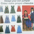 Simplicity 8638 sewing pattern child girl jumper size 3 to 6 uncut
