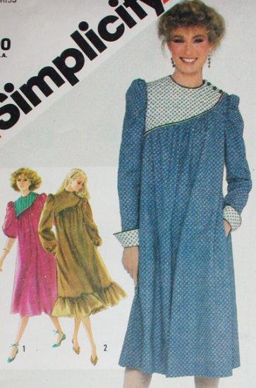 Simplicity 5721 sewing pattern Misses asymmetric dress sz 14B36 uncut 1982