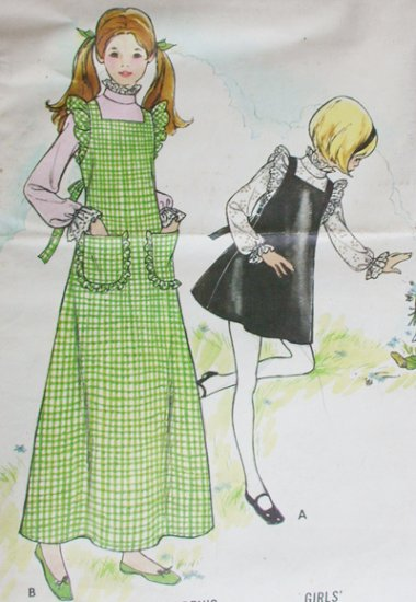 Butterick 6933 sewing pattern girl size 10 jumper & blouse
