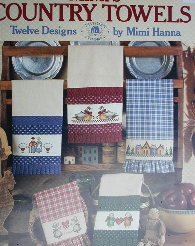 Cross stitch pattern leaflet Mimi's Country Towels 9 designs Leisure Arts 504