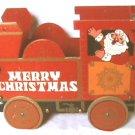 Santa train board Christmas card holder circa 1950's
