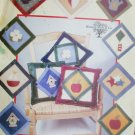 Butterick sewing pattern 122 has 12 applique designs for pillows or quilt panels uncut