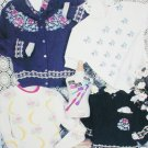 Cross stitch pattern leaflet Floralace flowers in duplicate stitch for sweaters Hickory Hollow