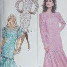 Butterick 6697 sewing pattern dress & tunic bottom flounce sz 12 14 16