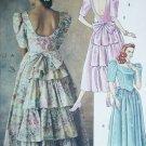 McCall 4636 sewing pattern dress gown size 10 12 14 rufflled back princess bodice