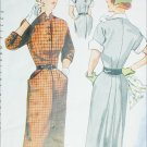 Simplicity 3487 vintage 1951 sewing pattern dress sz 11 bust 29
