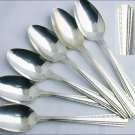 Camelot Harvest American silverplate 6 teaspoons 1964 lots of shine