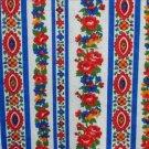 Cranston Print Works VIP fabric vibrant blue red white flower print 1/2 yd