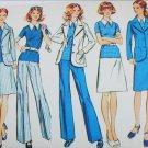 Simplcity 5527 vintage 1973 sewing pattern skirt pants top sz 14
