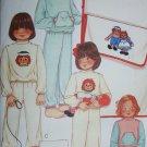 McCall 7797 sewing pattern child pajamas iron on transfer Raggedy Ann Andy sz 4