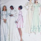 Butterick 6958 vintage sewing pattern bridal bridesmaid prom gown bride train sz 8