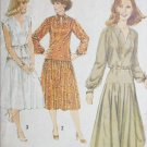 Simplicity 8749 sewing pattern misses pullover dress sz 14 vintage 1978
