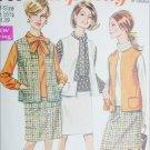 Simplicity 7769 vintage 1968 sewing pattern sleeveless jacket skirt sz 16 1/2