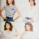 Butterick 6085 sewing pattern woman's blouse set 4 variations sz 12 14 16